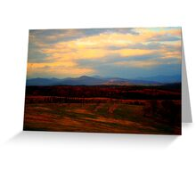 End of the Blue Ridge Greeting Card