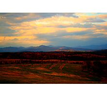End of the Blue Ridge Photographic Print