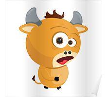 Cartoon Ox Poster