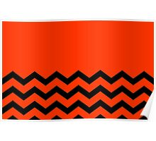 Beautiful Cushions/Chevron/ Orange Black Poster