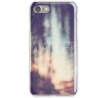 wander, sunset iPhone Case/Skin