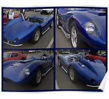 1958 Scarab Replica Collage Poster
