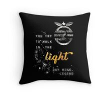 You try to walk in the light Throw Pillow