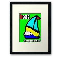 Boat Full of Drugs and Guns Framed Print