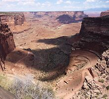 Overlooking the Shafer Trail, Canyonlands National Park by nealbarnett