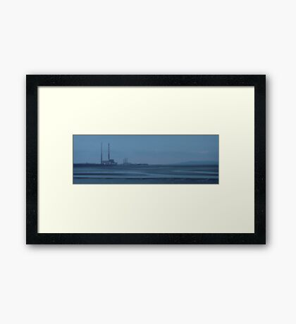 sandymount strand on a winters evening Framed Print