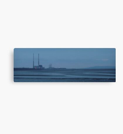 sandymount strand on a winters evening Canvas Print