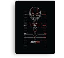 Ant-Man Team Roster Design Canvas Print