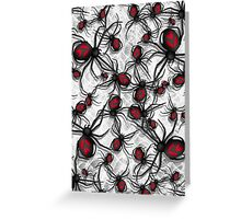 Black Widow Nest Greeting Card