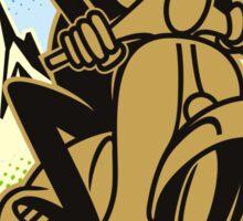 Vespa Ride and Fun Sticker