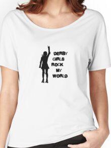 Derby Girls Rock My World (black) Women's Relaxed Fit T-Shirt