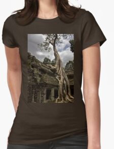 Ta Prohm Trees Womens Fitted T-Shirt