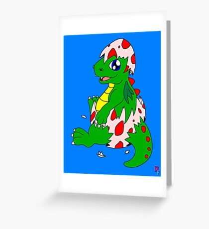 New born dragon Greeting Card