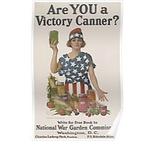 United States Department of Agriculture Poster 0024 Are You a Victory Canner Poster