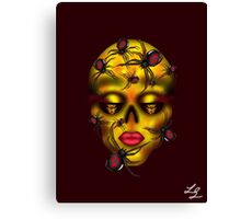 Golden Widow Skull Canvas Print