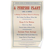 United States Department of Agriculture Poster 0084 A Pumping Plant Like a Horse Money When Working Poster