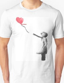 Banksy Girl With Balloon Watercolor Unisex T-Shirt