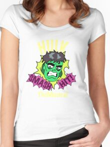 Rick and Morty // Hulk The Musical Women's Fitted Scoop T-Shirt