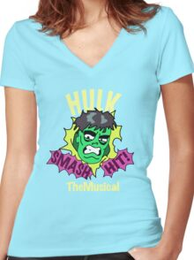 Rick and Morty // Hulk The Musical Women's Fitted V-Neck T-Shirt