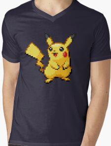 Pixelated Pikachu Mens V-Neck T-Shirt