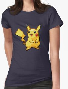 Pixelated Pikachu Womens Fitted T-Shirt