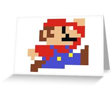 8-bit Mario Greeting Card