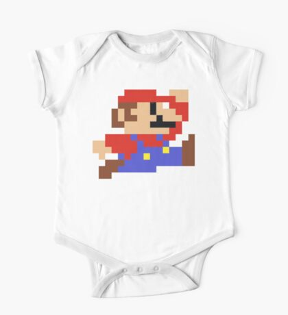 8-bit Mario One Piece - Short Sleeve
