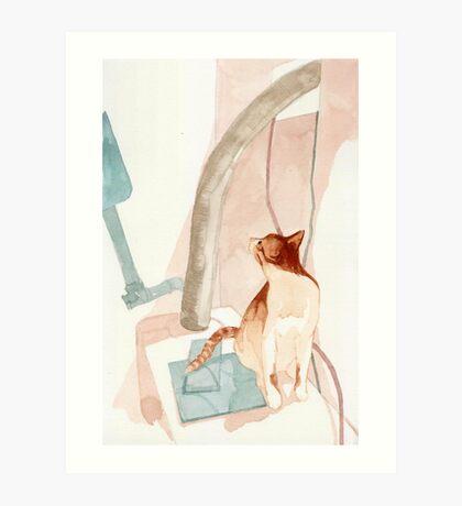 cat loom Art Print
