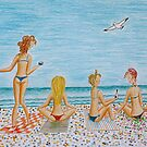 Girls on the beach by Solotry