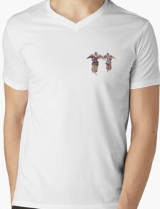 2 little angels to watch over you Mens V-Neck T-Shirt