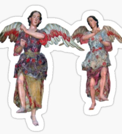 2 little angels to watch over you Sticker
