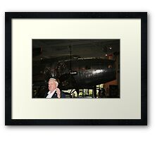 B-17 and WW2 Pilot Framed Print