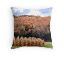 An October Ride in the Country Throw Pillow
