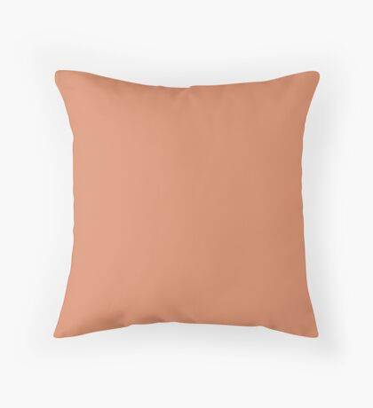 Copper Red  Throw Pillow