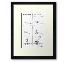 the evolution of evolution Framed Print