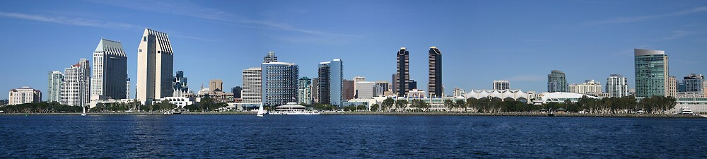 San Diego Panorama by fsmitchellphoto