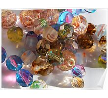 Colorful Glass Beads Poster