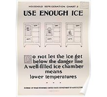 United States Department of Agriculture Poster 0312 Use Enough Ice Poster