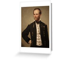 General William Sherman Greeting Card