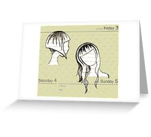 Manilla Vanilla : Parchment and Paper People and Places, Dates and Faces Greeting Card