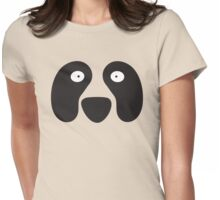 Panda looking shocked! Womens Fitted T-Shirt