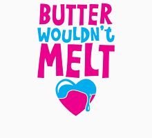 Butter wouldn't MELT! with love heart Womens Fitted T-Shirt