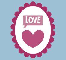 Love heart cameo cute Baby Tee