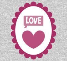 Love heart cameo cute One Piece - Long Sleeve