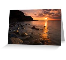 End of a beautiful day Greeting Card