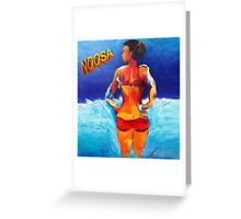 Noosa Beach Belle  Greeting Card