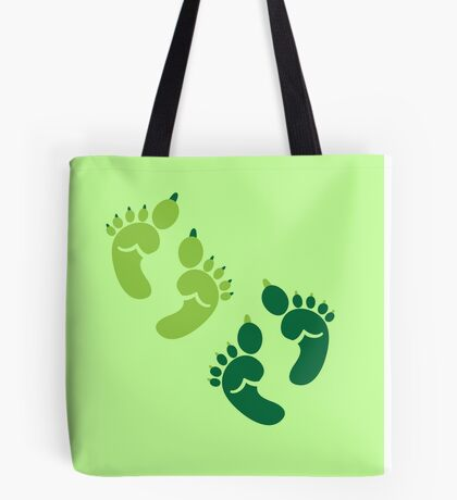 Two pairs twins Ogre feet cute for Halloween! Tote Bag