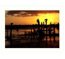 Sunset, Viera Wetlands Florida Art Print