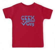 Geek Guy cute nerdy geek design for men Kids Tee