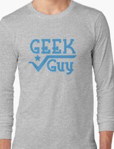 Geek Guy cute nerdy geek design for men Long Sleeve T-Shirt